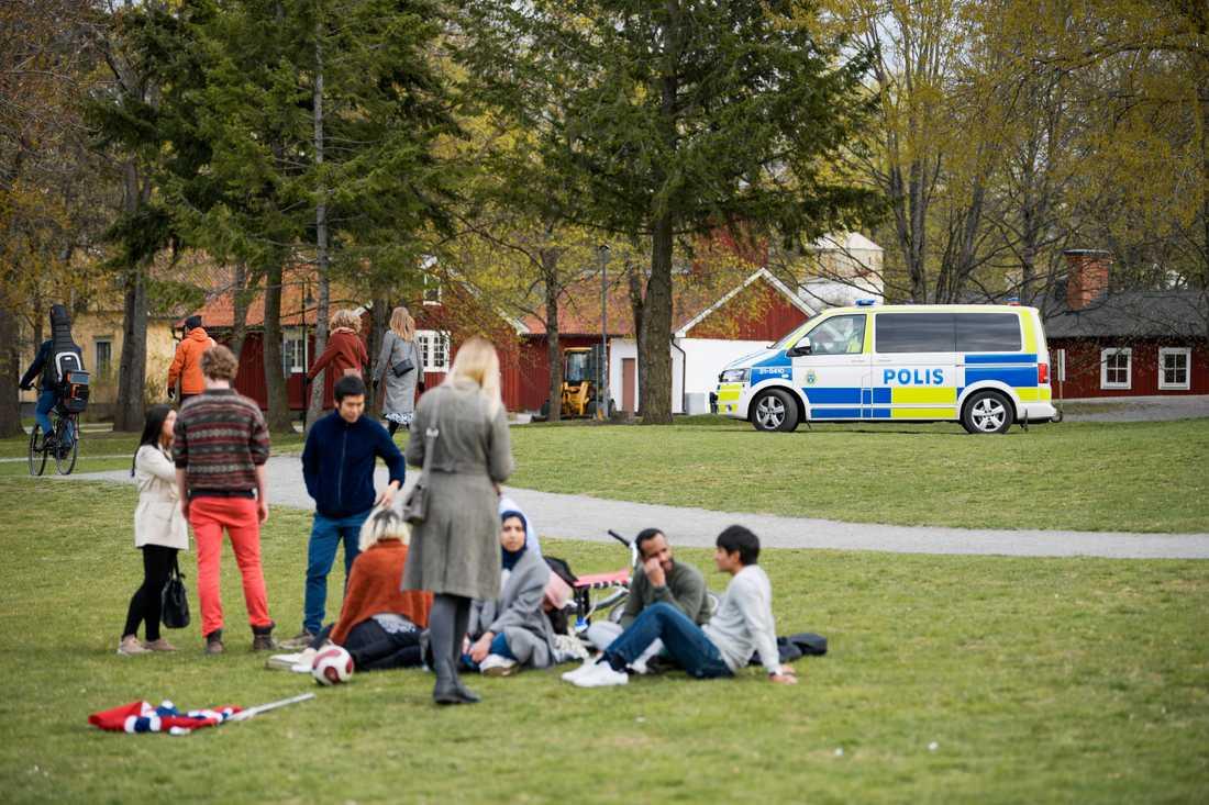 Uppsala har med stöd av pandemilagen beslutat om vistelseförbud i bland annat Ekonomikumparken på valborg. Arkivbild.