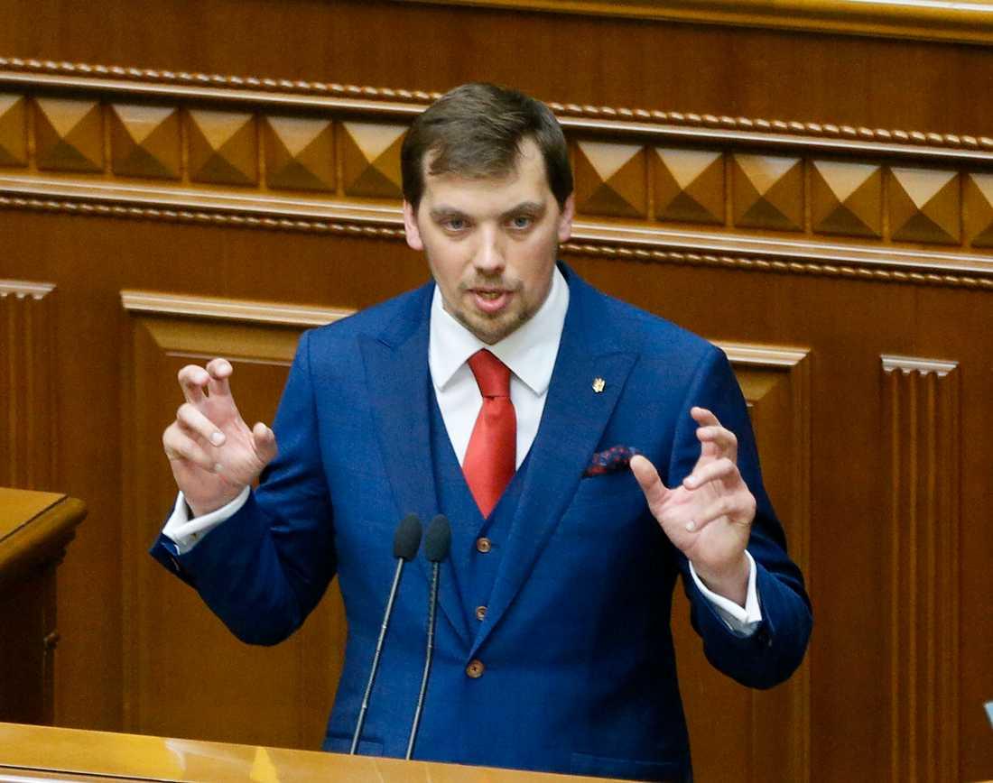 Oleksyj Hontjaruk i parlamentet i Kiev i augusti förra året.