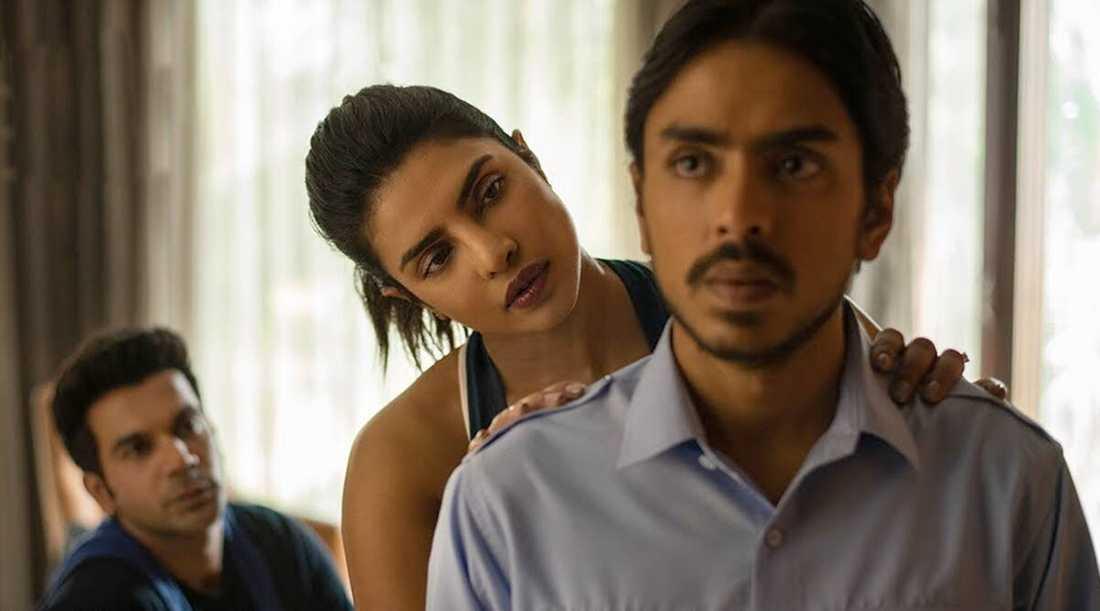 """Rajkummar Rao, Priyanka Chopra och Adarsh Gourav i """"Den vita tigern""""."""
