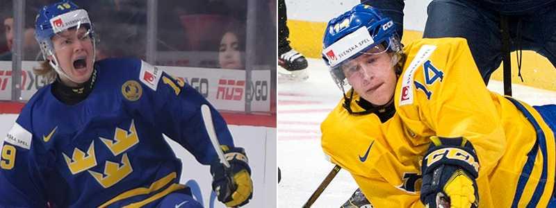 Alexander Nylander och Elias Pettersson satte sina straffar i träningsmatchen mot Ryssland.