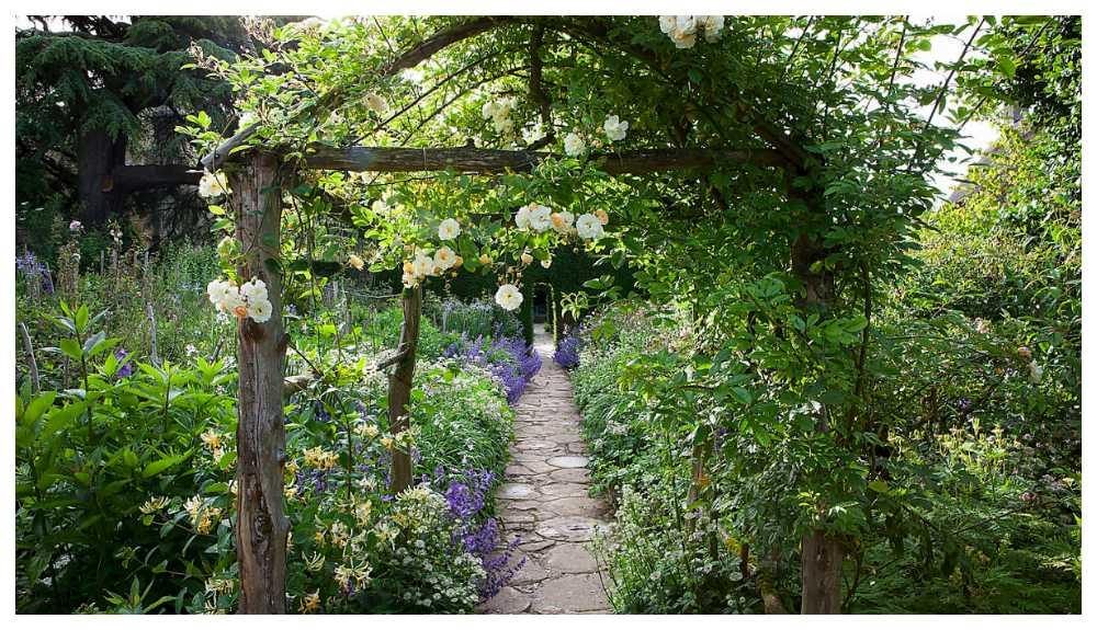 Romantiska Hidcote manor i Cotswolds.
