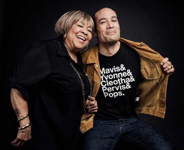 Mavis Staples och hennes producent Ben Harper, som synes stort Staple Singers-fan.
