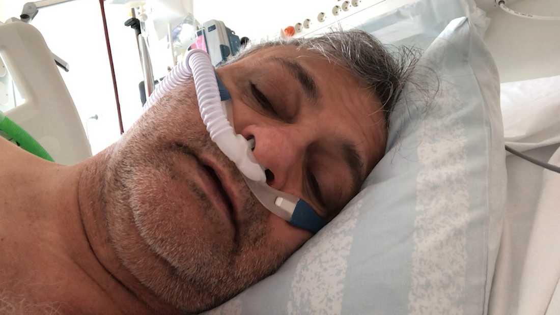 I 19 dagar kämpade Mehdi Saleki mot coronaviruset. Varje gång han vaknade på sjukhuset filmade han sig själv.