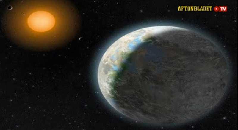 Planeten Gliese 581g sades vara gästvänlig för liv. Nu verkar hela planeten vara försvunnen. Obs! Bilden är en skiss.