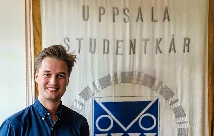Johannes Bäck är ordförande för Uppsala Studentkår.