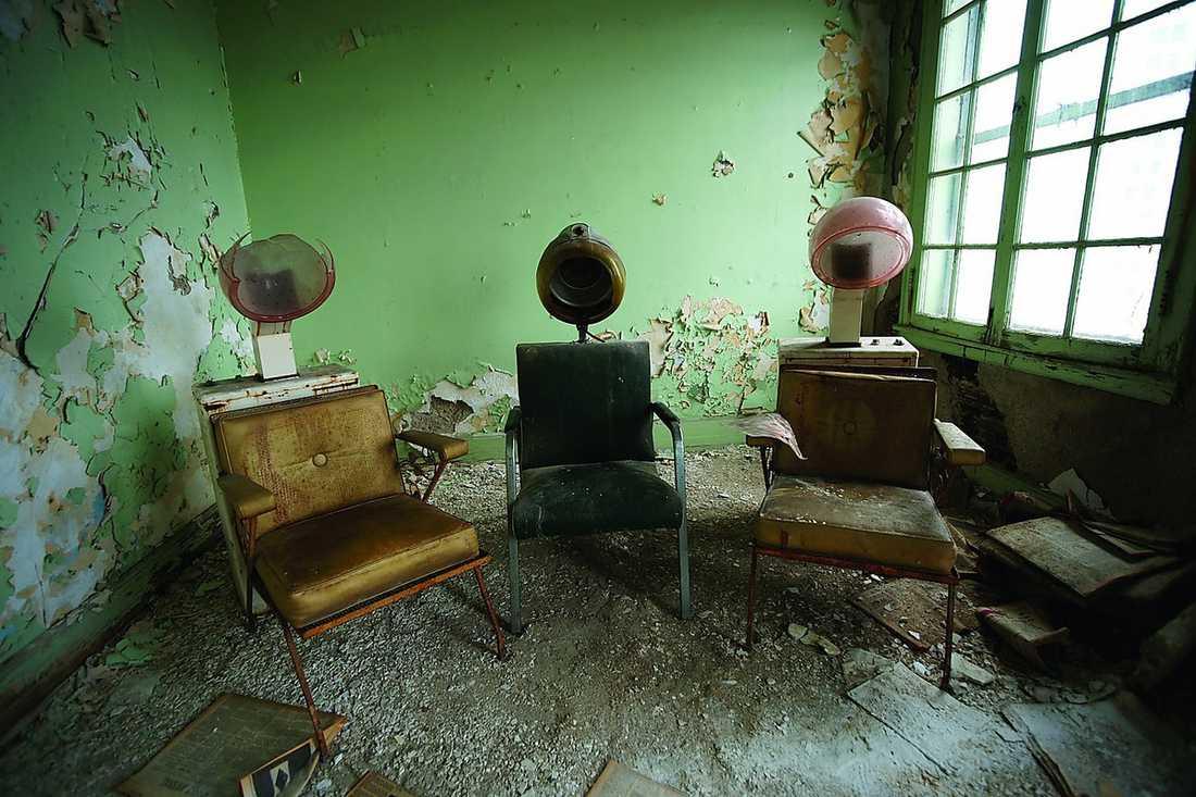 Interiör från The Wurlitzer Building, Detroit.
