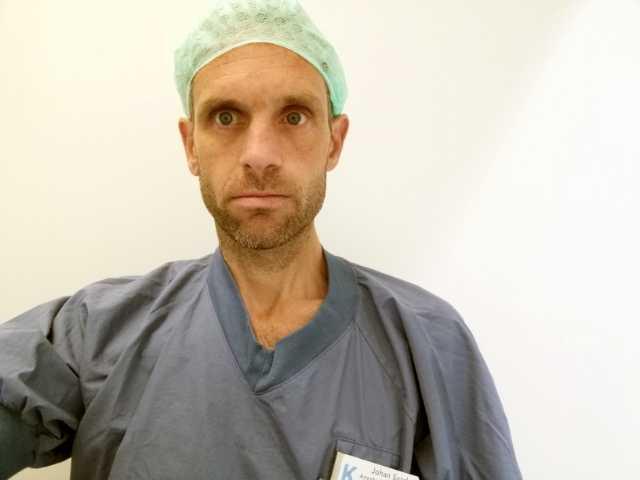 Johan Sand, anestesisköterska på Karolinska Huddinge.