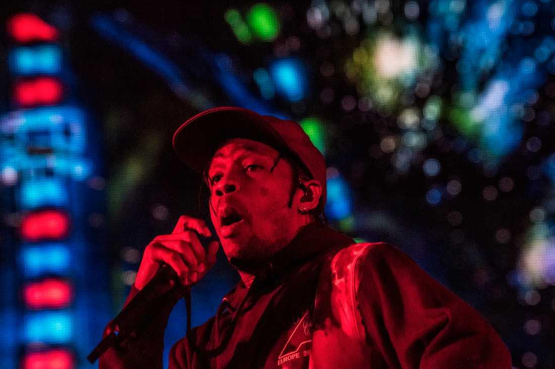 Travis Scott på Roskildefestivalen i fredags.