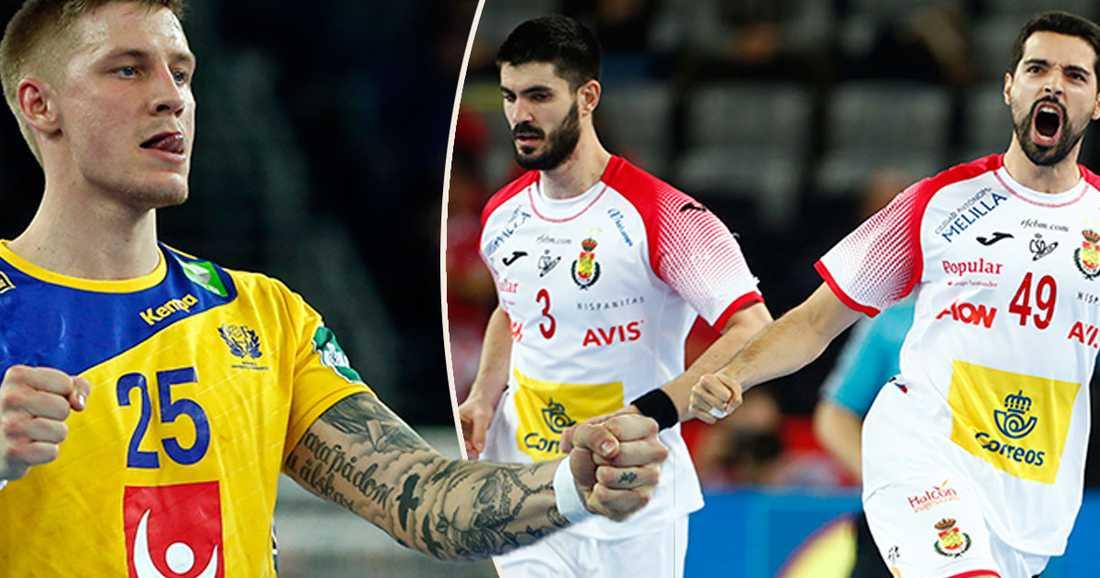 Sverige möter Spanien i EM-finalen i handboll på söndag klockan 20.30.