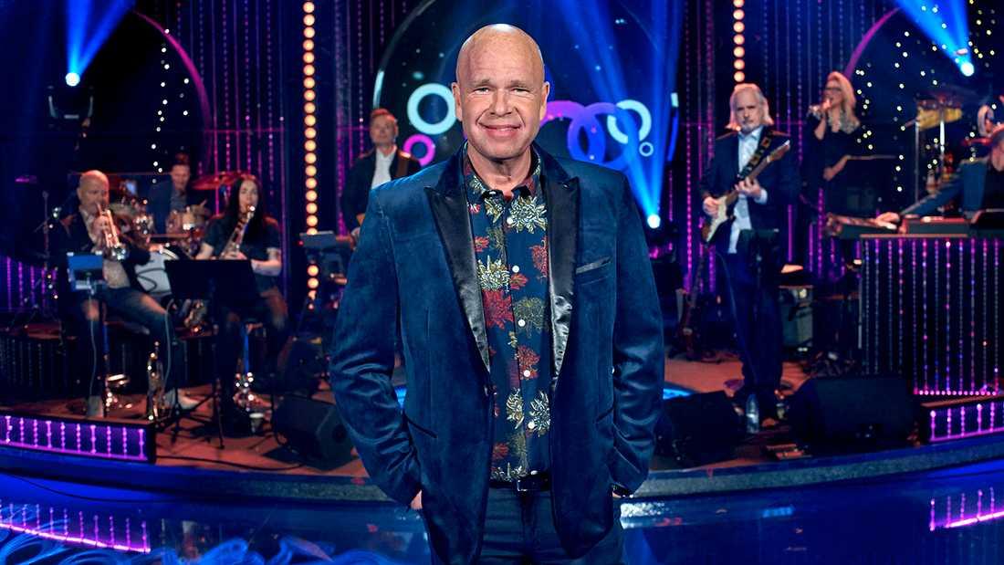 """Lasse Kronér i """"Doobidoo""""-studion, där han drar ingån den 15:e säsongen av SVT-programmet i kväll."""