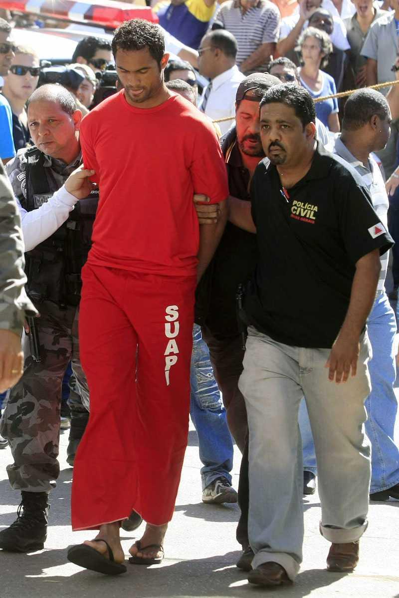 """Bruno häktades för mordet på mamman till hans barn den 9 juli. """"Om jag tidigare hade hopp om att få spela i VM 2014 så är det nog kört nu"""", sa han efter häktningen."""