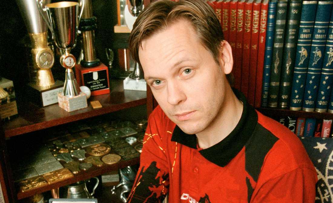 """Mikael """"Äpplet"""" Appelgren, 50, bordtennis Var under 80-talet och början av 90-talet en av världens absolut främsta i sin sport. Ferla EM- och VM-guld i såväl dubbel som singel."""