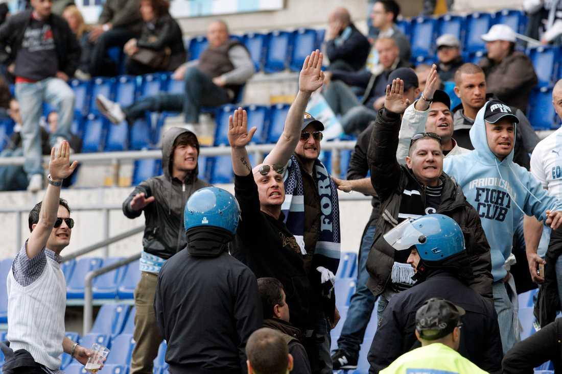 Lazio har haft problem med läktarrasism under en längre tid.