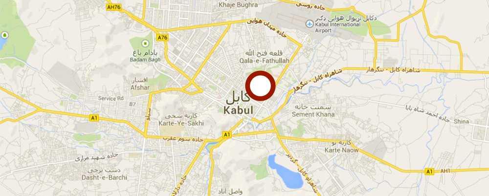 Enligt uppgift ska Nils Horner ha skjutits till döds i det här området i Kabul, Afghanistan.