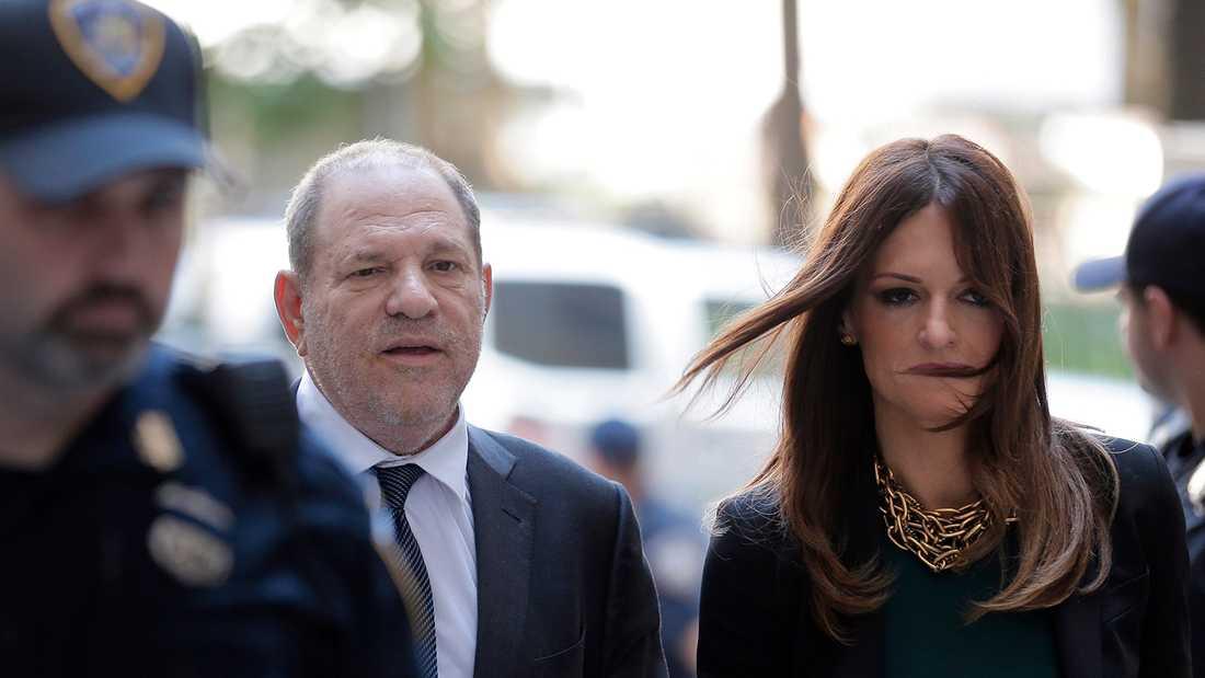 Harvey Weinstein med sin nya advokat Donna Rotunno.