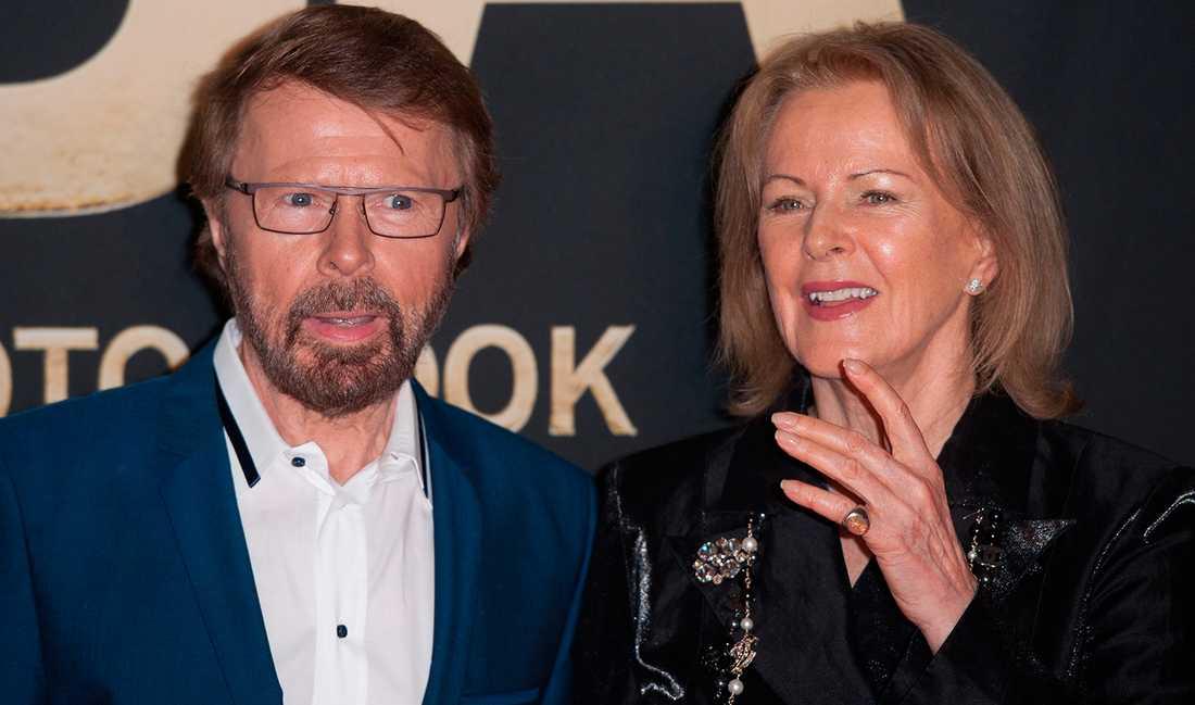 """Björn Ulvaeus och Anni-Frid Lyngstad vid firandet av att det gått 40 år sedan de vann Eurovision med """"Waterloo""""."""