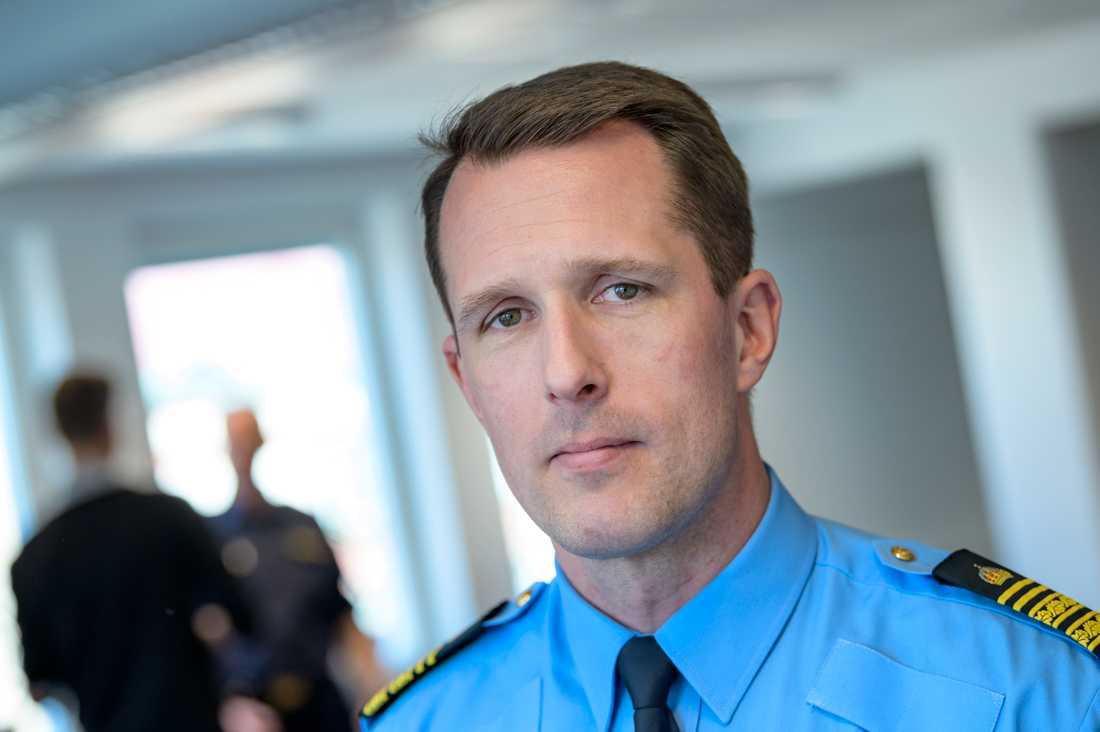 Mattias Sigfridsson, biträdande polisområdeschef i Malmö. Arkivbild.