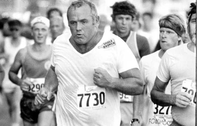 Ingemar Johansson sprang Stockholm Maraton 1981.