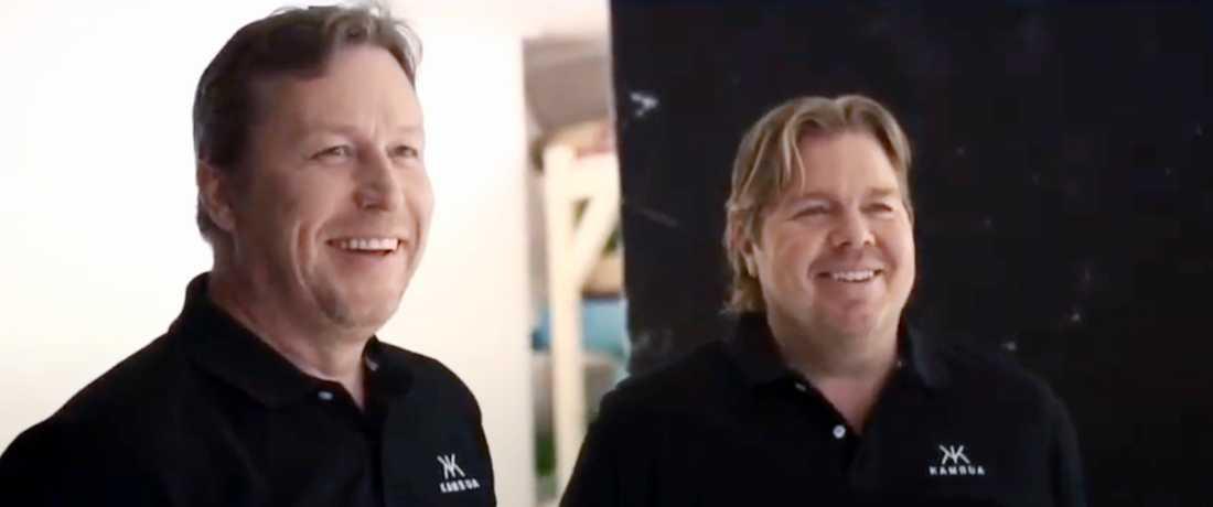J-O Waldner och Tomas Brolin. Bilder från Kambuas marknadsföring.
