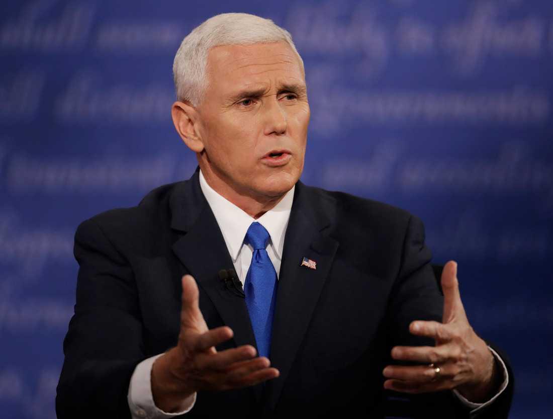 Republikanernas vicepresidentkandidat Mike Pence.