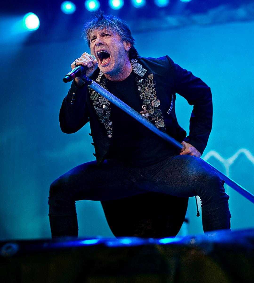 Iron Maiden var i Sverige på Bråvallafestivalen 2014.