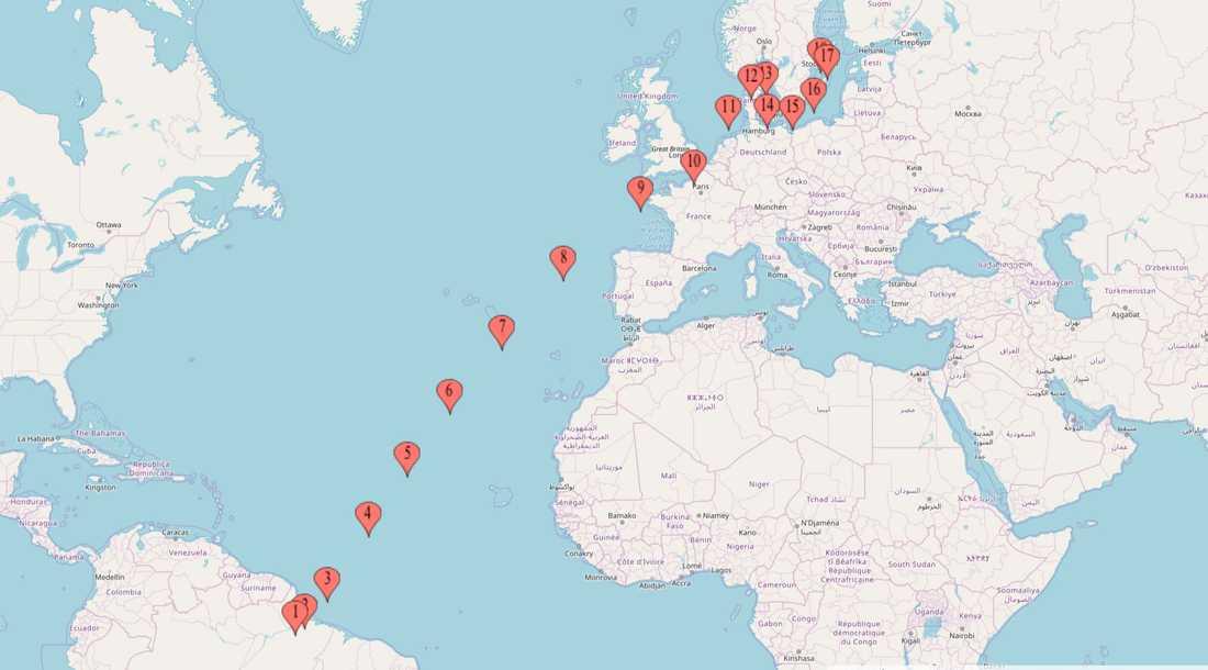 Phoenix Risings rutt över Atlanten till Stockholm.