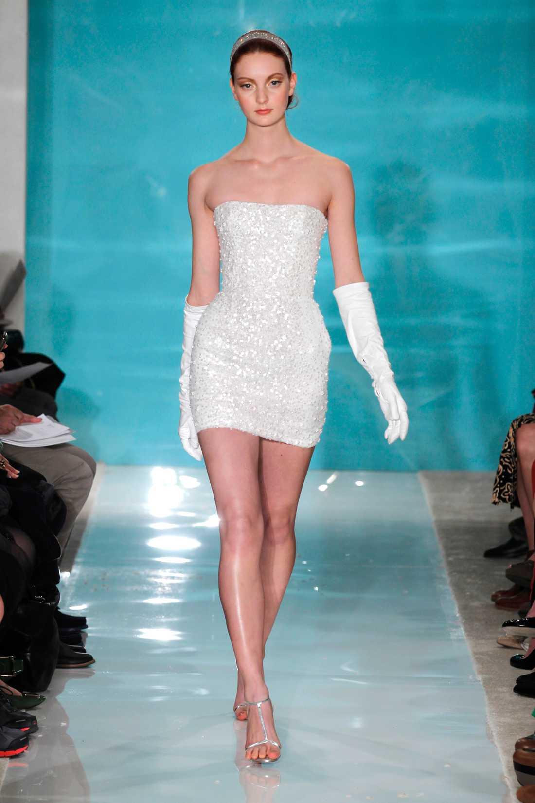 Inspirationsbild:  Brudklänning från designern Reem Acra. Foto: AP
