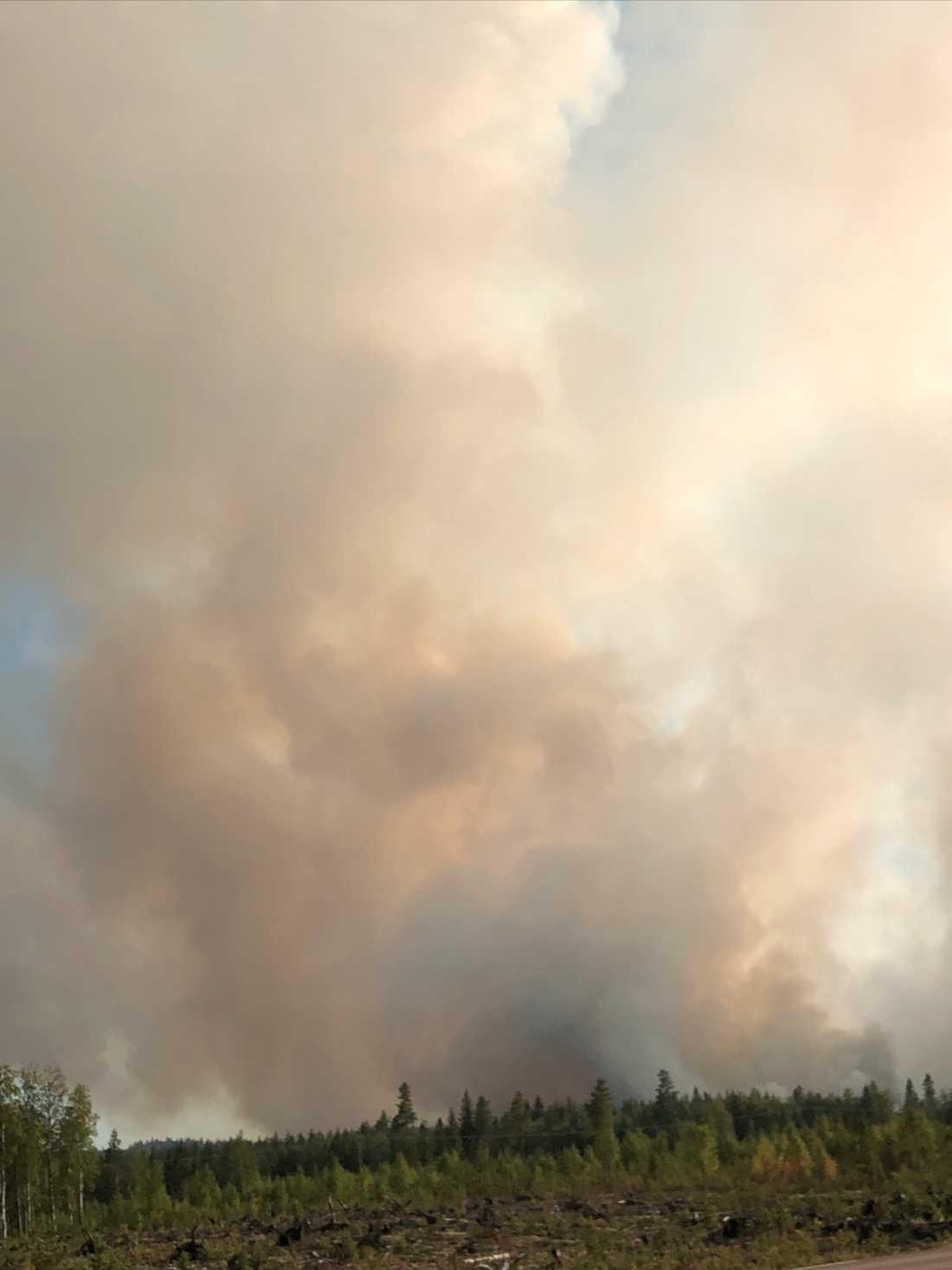 Branden i Ängra, Gävleborgs län.