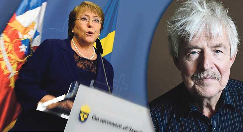 Chiles president Michelle Bachelet på besök i Sverige 2016. Bachelets regering förbjöd vinster i skolan – och nu vore det politiskt självmord för nästa president att riva upp reformen, skriver nationalekonomen Stefan de Vylder.
