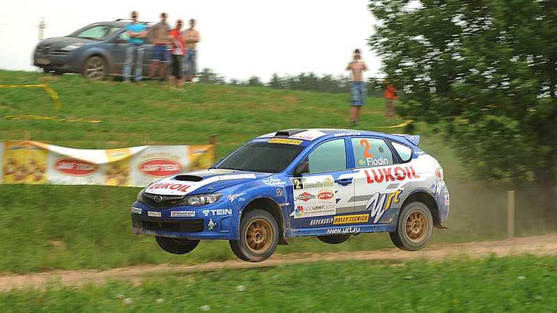 Tre punkteringar förstörde för Patrik Flodin under Rally Ural.