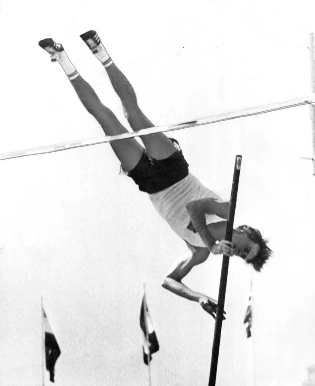 Kjell Isaksson vid OS i Mexico City 1968.