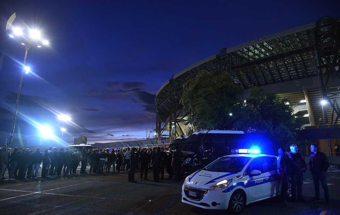 San Paolo inför Napoli Liverpool förra säsongen