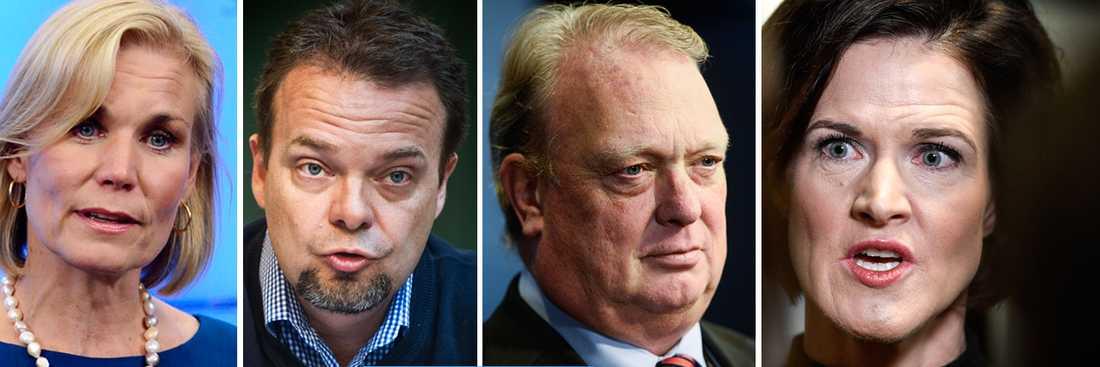 Gunilla Carlsson, Sven Otto Lottorin och Mikael Odenberg är några av dem som har uttryckt kritik mot M-ledaren Anna Kinberg Batra.
