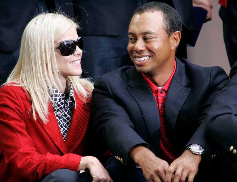 Svenska Elin Nordegren med Tiger Woods.