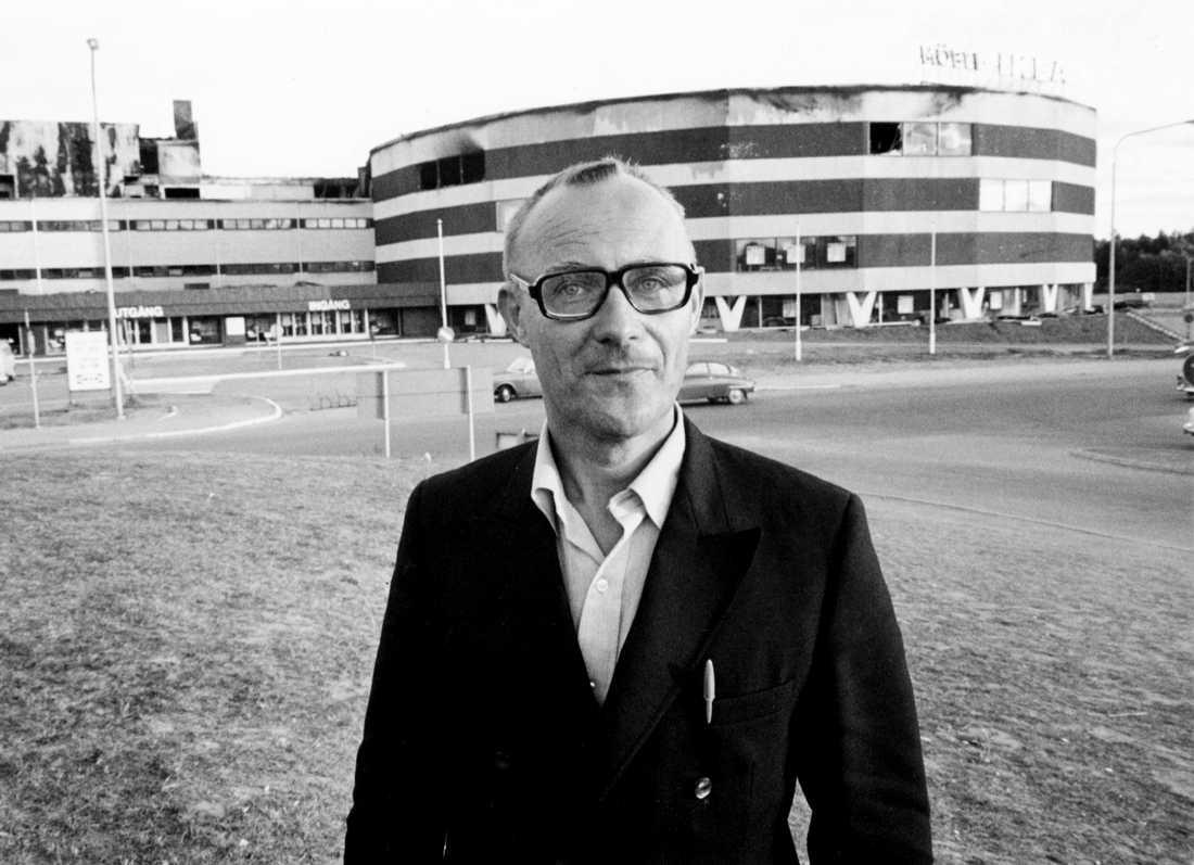 Ingvar Kamprad vid Ikea Kungens kurva, Stockholm 1970.