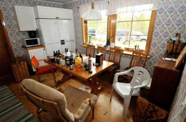 Köket i Magnus hem.