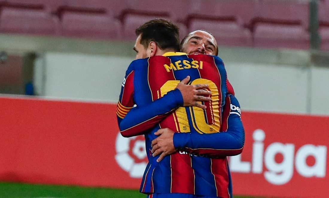 Lionel Messi firade sitt jubileum med ett drömmål.