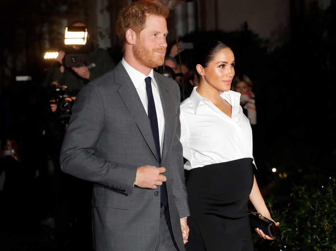 Prins Harry och hans fru Meghan, hertiginnan av Sussex.
