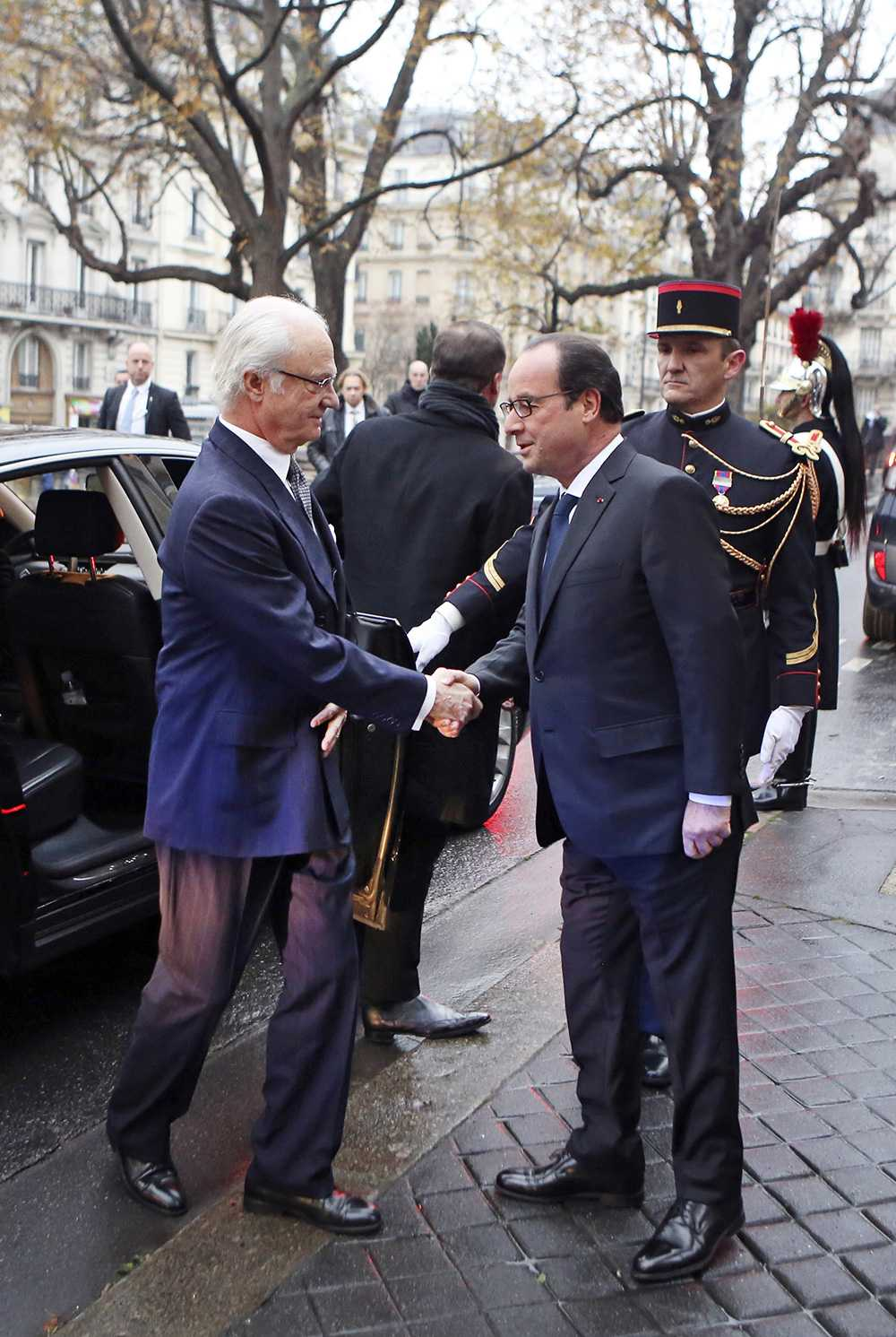 Kungen och Frankrikes president Francois Hollande.