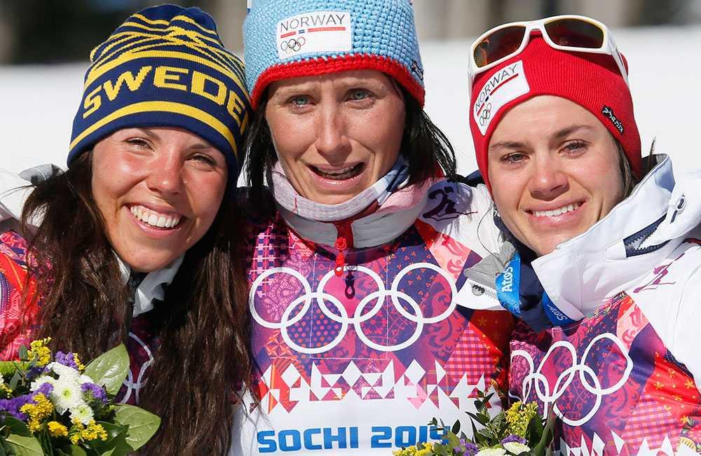 Det blev även ett silver i skiathlon-loppet under OS i Sotji.