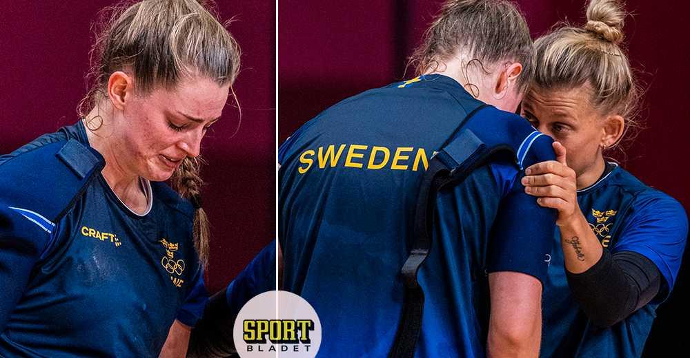 Thorleifsdóttir bryter ihop efter träningen