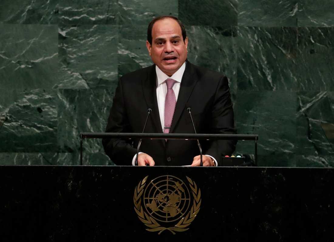 Egyptens president Abd al-Fattah al-Sisi (bilden) kommer vara värd för toppmötet tillsammans med EU:s rådsordförande Donald Tusk. Arkivbild.