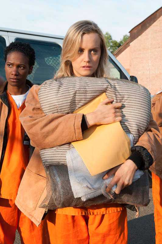 "Taylor Schilling i ""Orange is the new black""."