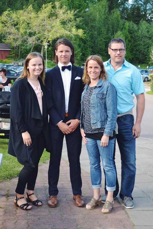 Alexandra Larsen, Daniel Larsen, Vanja Persson och Andreas Larsen.