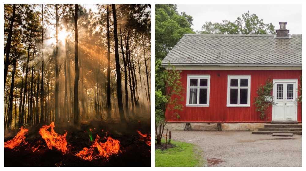 När skogsbranden närmar sig finns det en del saker att göra för att skydda sig.