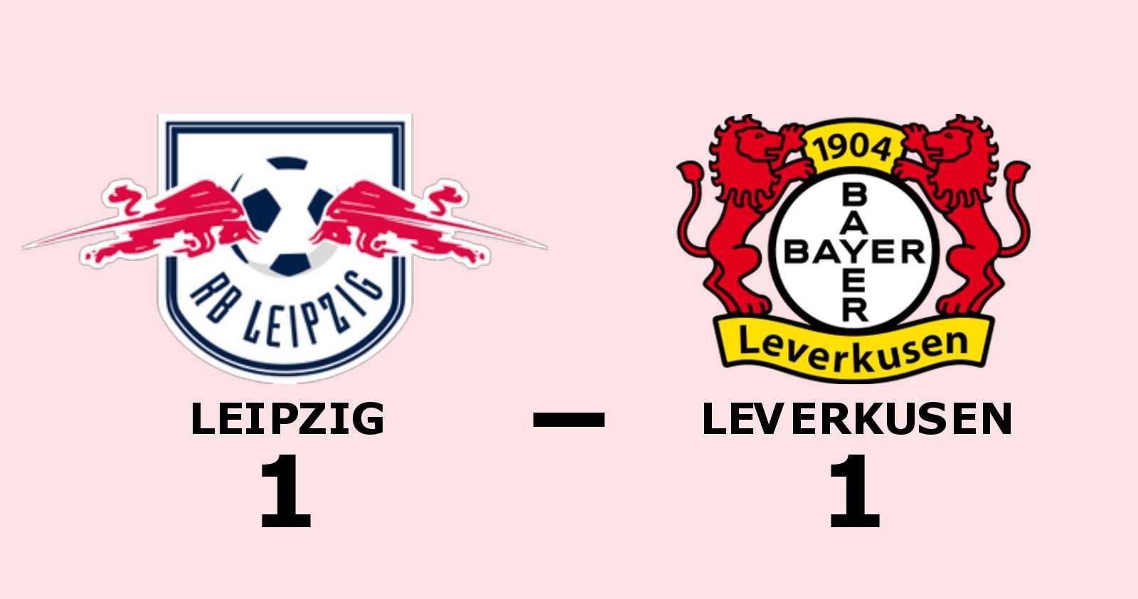 Stark insats när Leverkusen tog poäng borta mot Leipzig