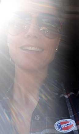 Tyska modellen Heidi Klum, som blev amerikan 2008, såg ljuset.