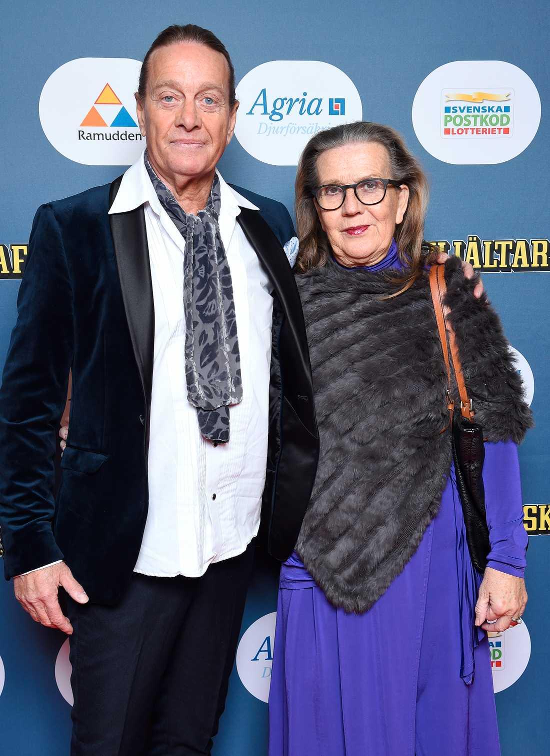 Björn Ranelid var där tillsammans med sin fru Margareta Nilsson Ranelid.