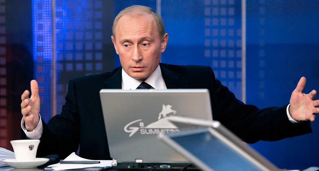 Vladimir Putin slog tillbaka under sin årliga presskonferens.