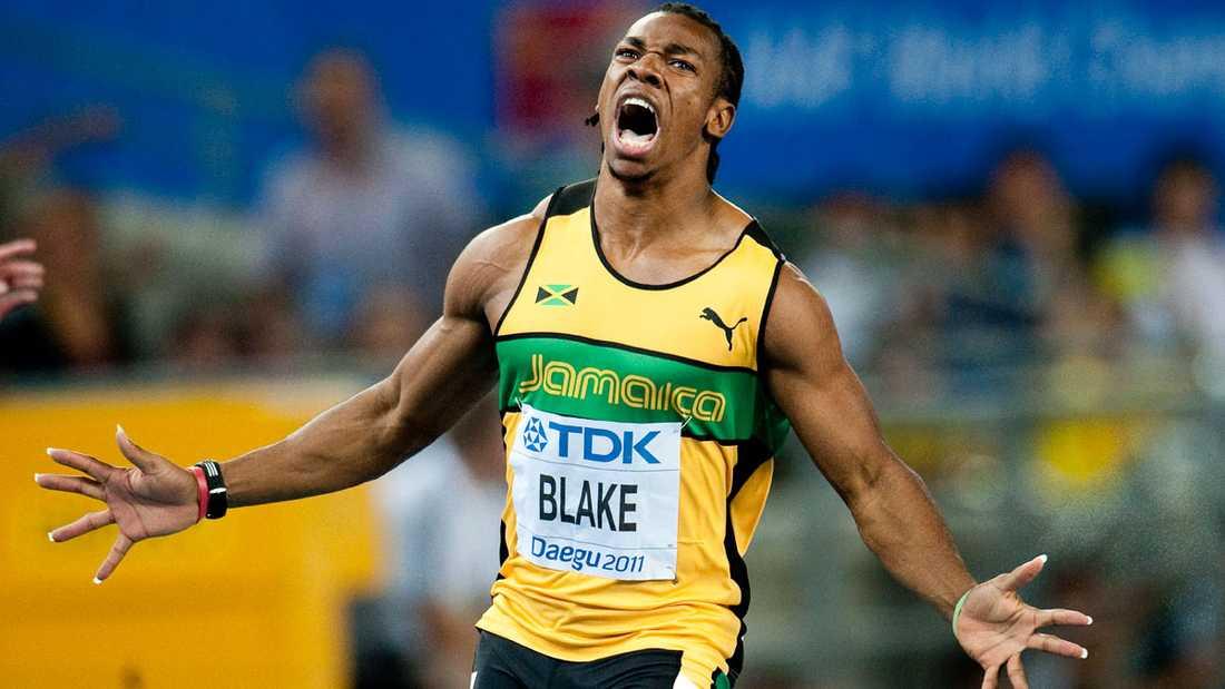 Trots att Bolt försvann hamnade guldet i Jamaica när  Yohan Blake vann på 9,93.
